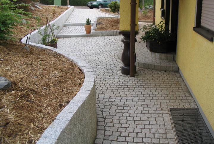 Pflasterplatten 20x20x6 cm in Anthra grau und Grau