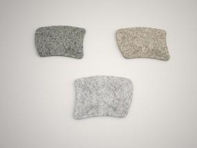 Einstein in Grau, Anthra Grau und Gelb 65x49x2 cm