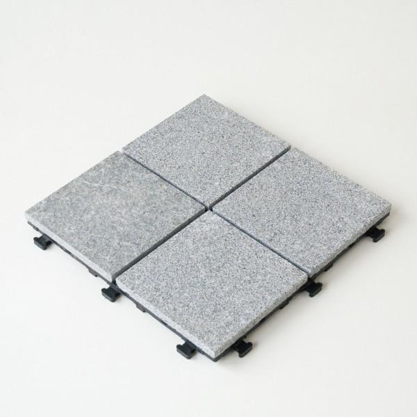 Click Fliese Granit Anthra Grau 4 geteilt