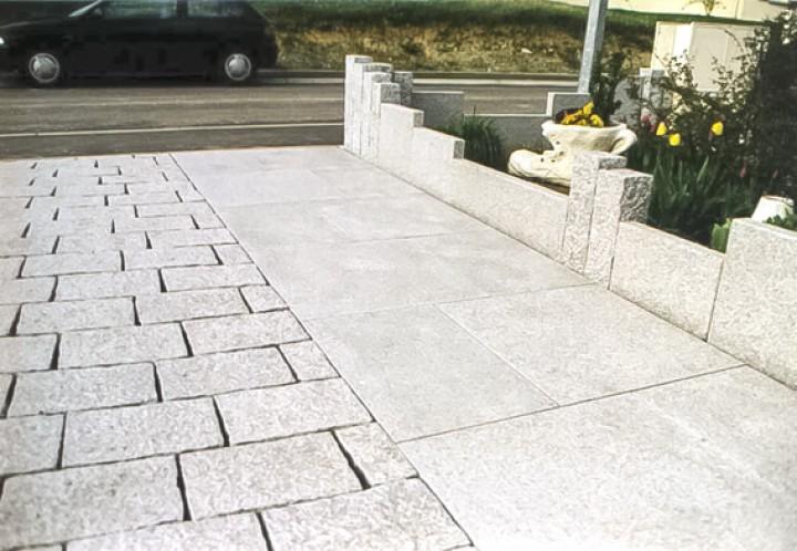 Pflasterplatten 10x20x6 cm in Anthra grau und Grau