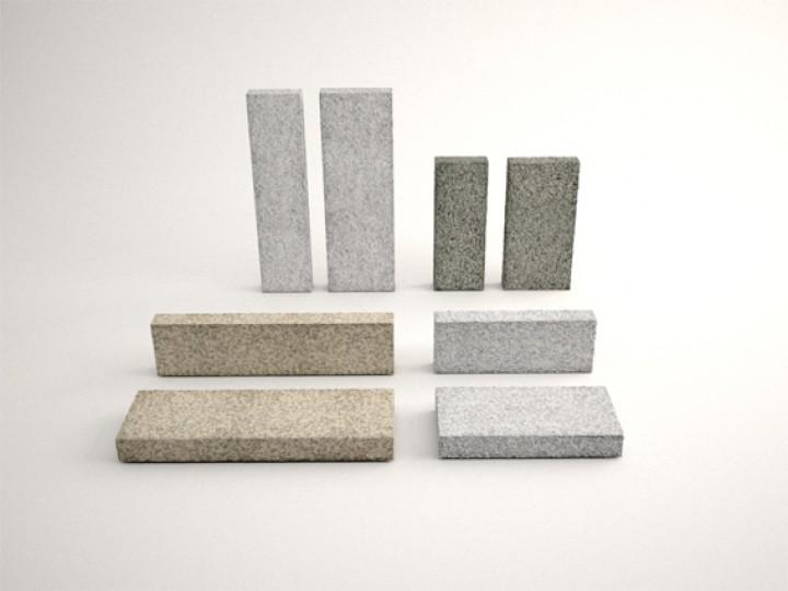 Planken 120x40x6 cm in Anthra grau und Grau