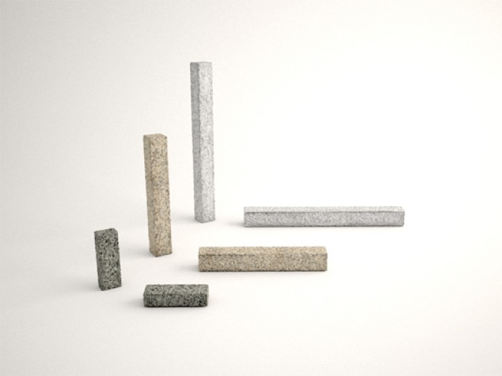 Stelen 120x12x12 cm in Anthra grau und Grau